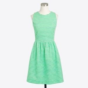 J. Crew factory green stripe dress size xxs
